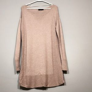 Mossimo Pink Pullover long Sleeve tunic sweater
